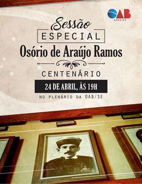 3f726cb622622 OAB SE realizará sessão especial em homenagem ao centenário de ...